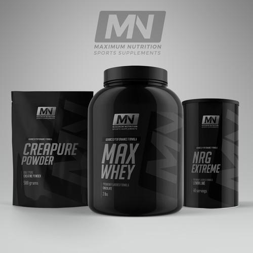 Logo and label design for supplement line