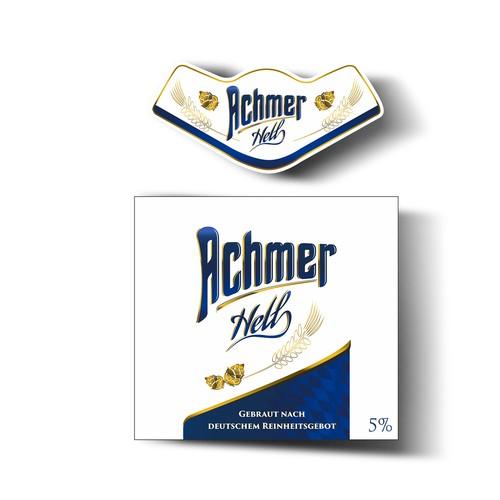 Etiket und Logo für Bayerisches Bier