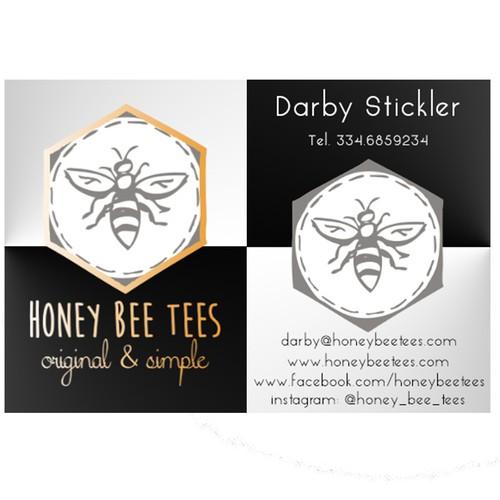 HONEY BEE TEES BUSINESS CARD