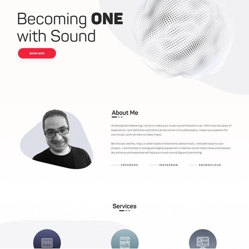 Standpoint Mastering website design