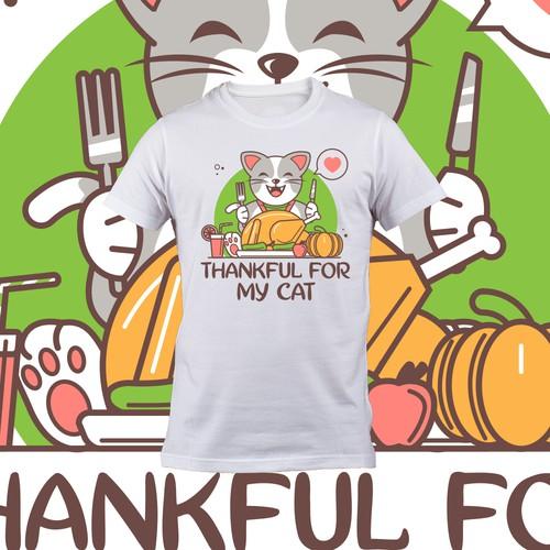 cat thanksgiving tshirt