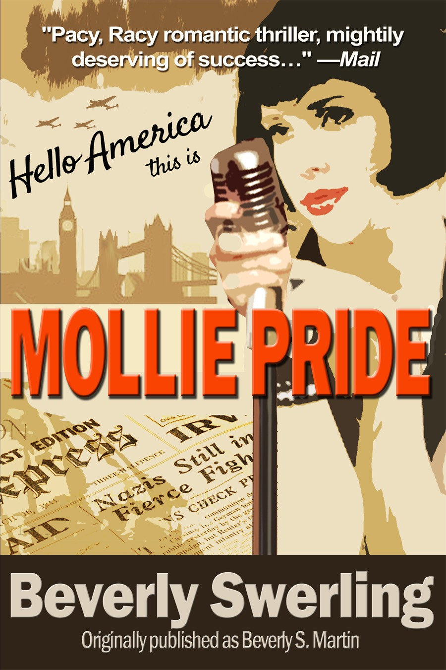 New book or magazine cover wanted for MOLLIE PRIDE, a romantic thriller set mostly during WWII
