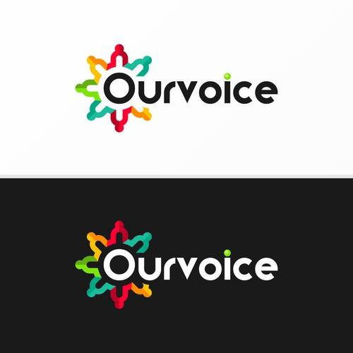 OurVoice Logo design