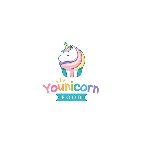 Cute logo for Younicorn food