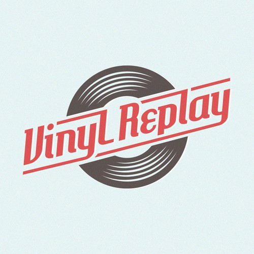 Rock and roll logo for Vinyl Replay