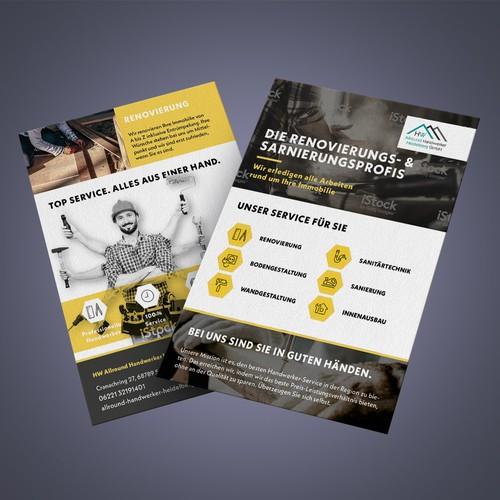 Flyer für craftsman
