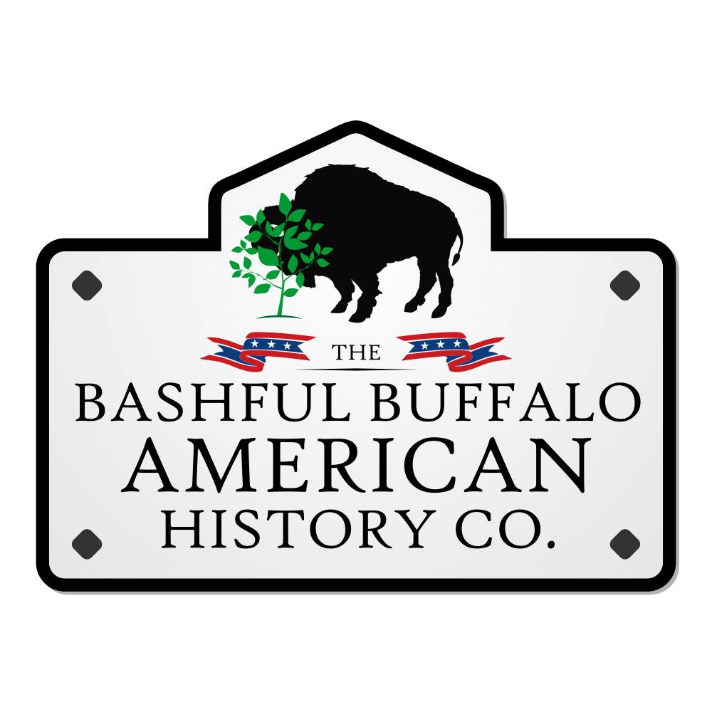 Logo design for Bashful Buffalo History Co. - A nice mix of fun + traditional design