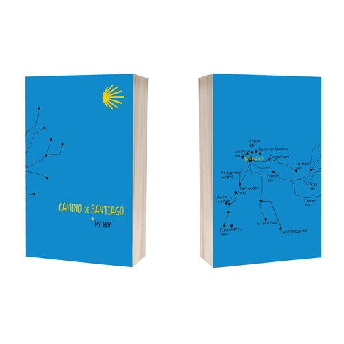 Travel diary cover design