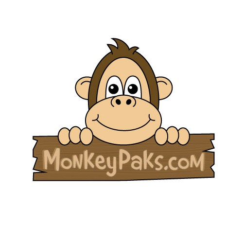 Create our logo for our new monkey paks backpacks.