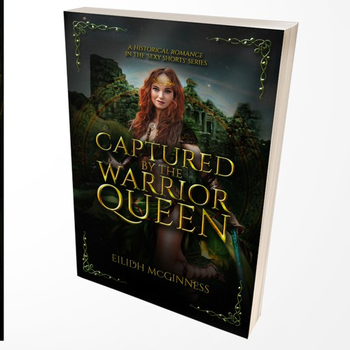 Captured by the Warrior Queen (Fiction Book Cover)