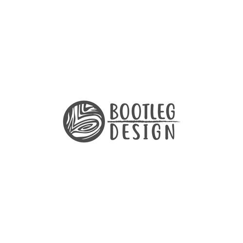 Logo for Bootleg Design. A wood craftsmen