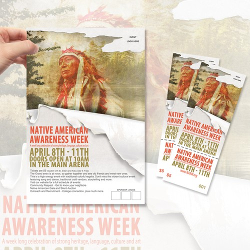 New design wanted for TicketPrinting.com Native Amerian Awareness Week POSTER & EVENT TICKET