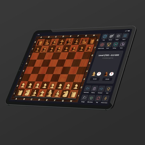 Chess application redesign for iPad