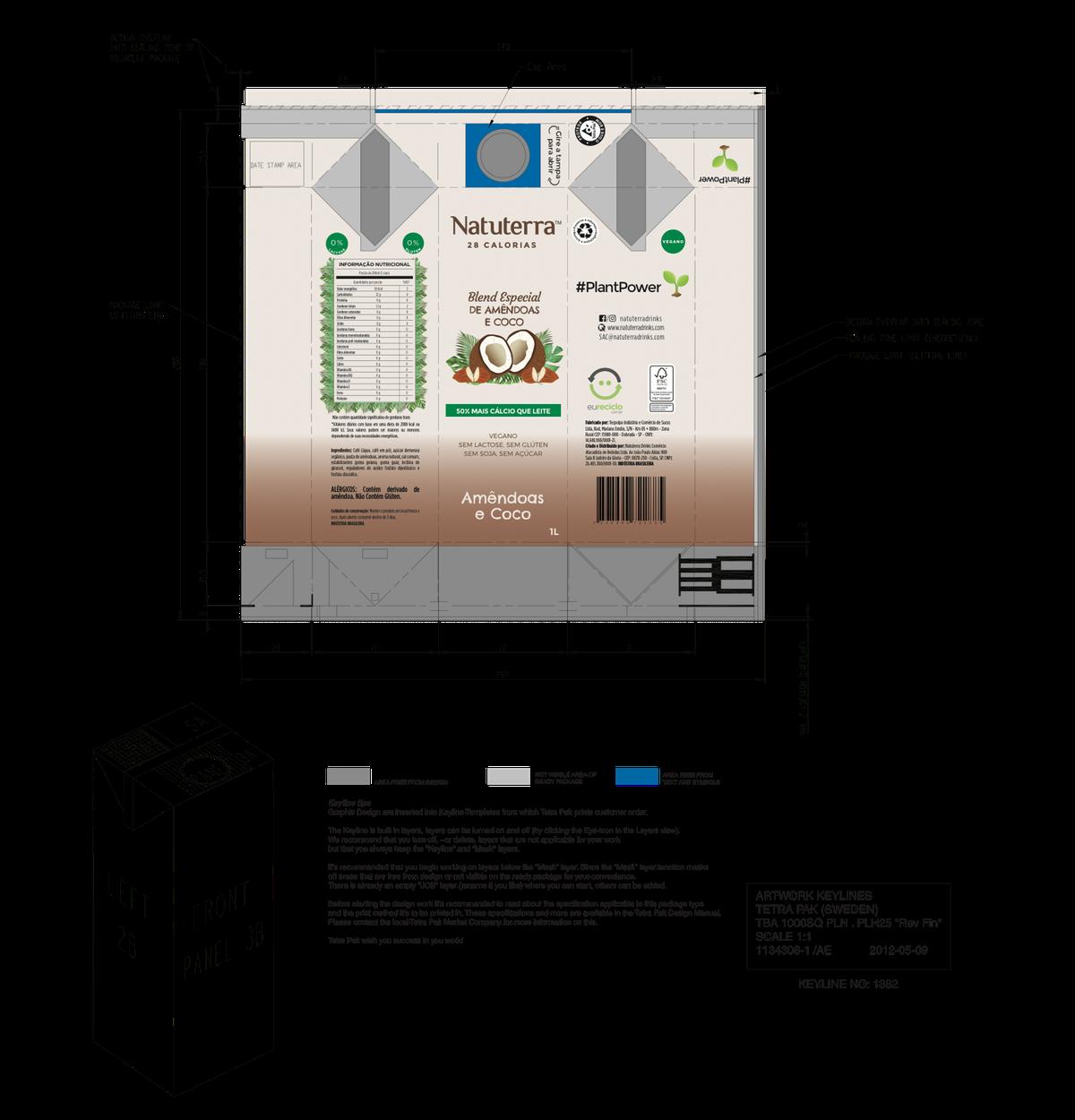 Natuterra Almond milk and coconut milk