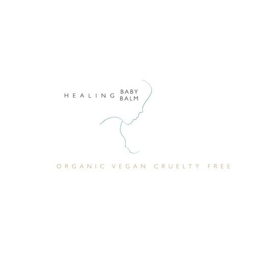 Logokonzept für ein Heilendes Baby Balsam