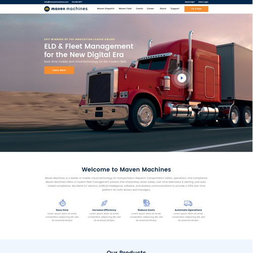 Redesign of Growing SaaS Company's Website