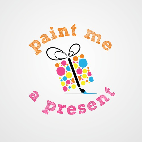 logo for Paint me a Present