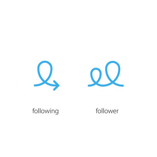 Following/Follower Icons