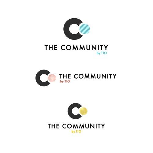 Minimalist Initial Acronym Logo for Online Community of Professionals
