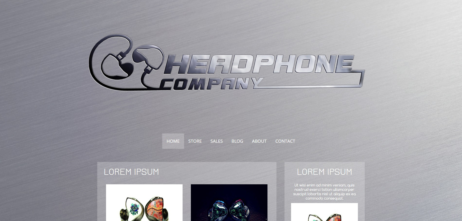 Logo & webpage for cool headphone project