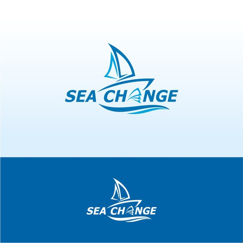 'SEA CHANGE' Sailboat Logo