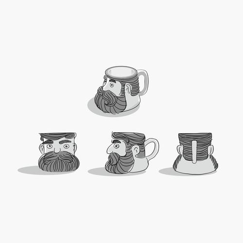 concept art/sketches design mugs