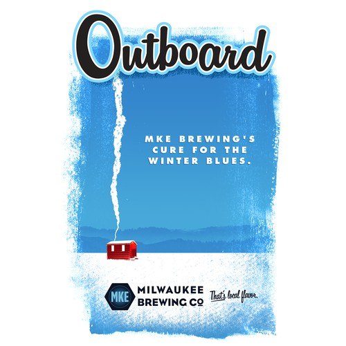 Winter poster for Outboard beer