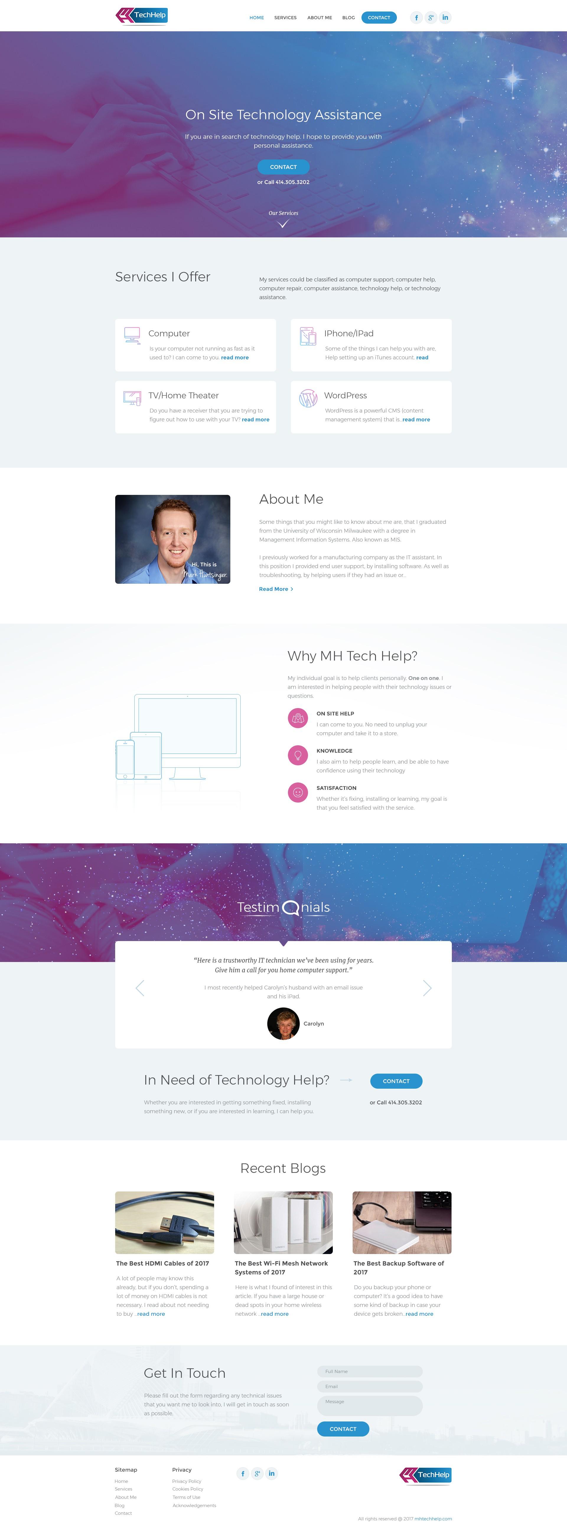 Design Tech website