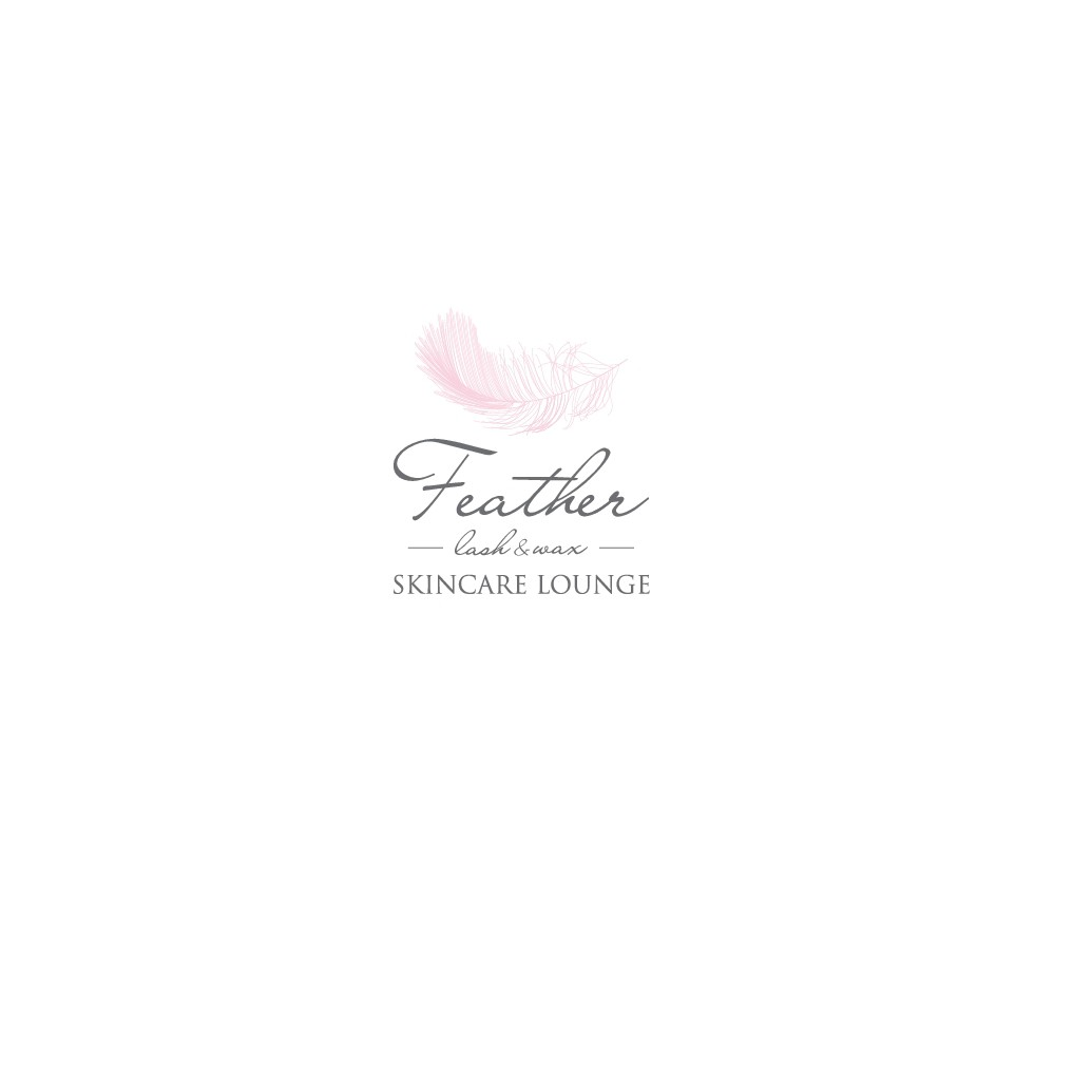 Create elegante/vintage spa logo with possible white fluffy feather