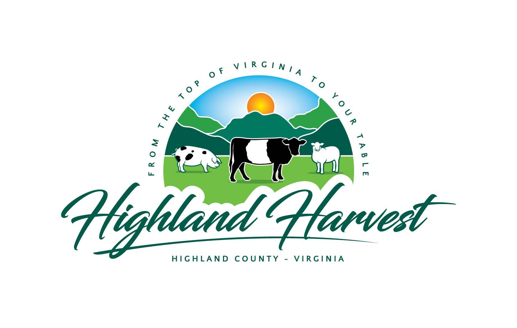 Highland Harvest- Logo and branding for artisanal farm on-line shopping experience