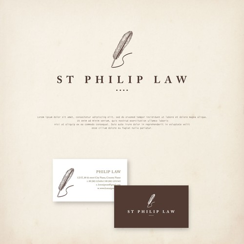 fresh, natural, vintage look, slightly out of the box but clean logo for a law firm