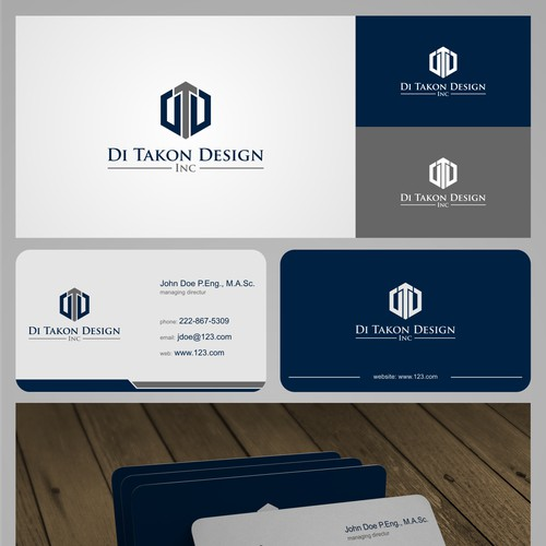 Design an elegant, standout logo and business card for a custom home theatre installation company.