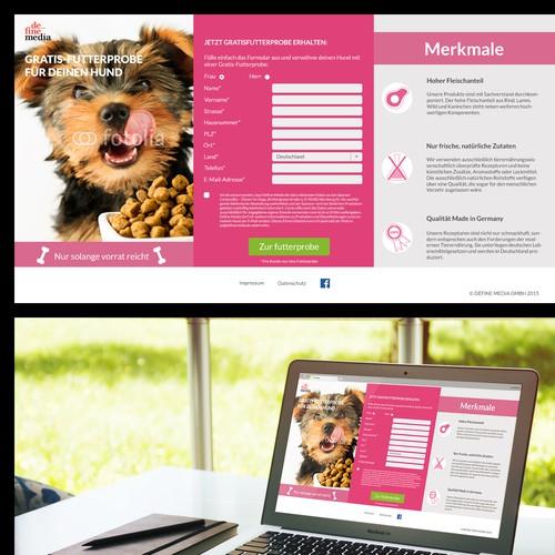 Landing Page (Mobile Responsive) for Dog Food Samples