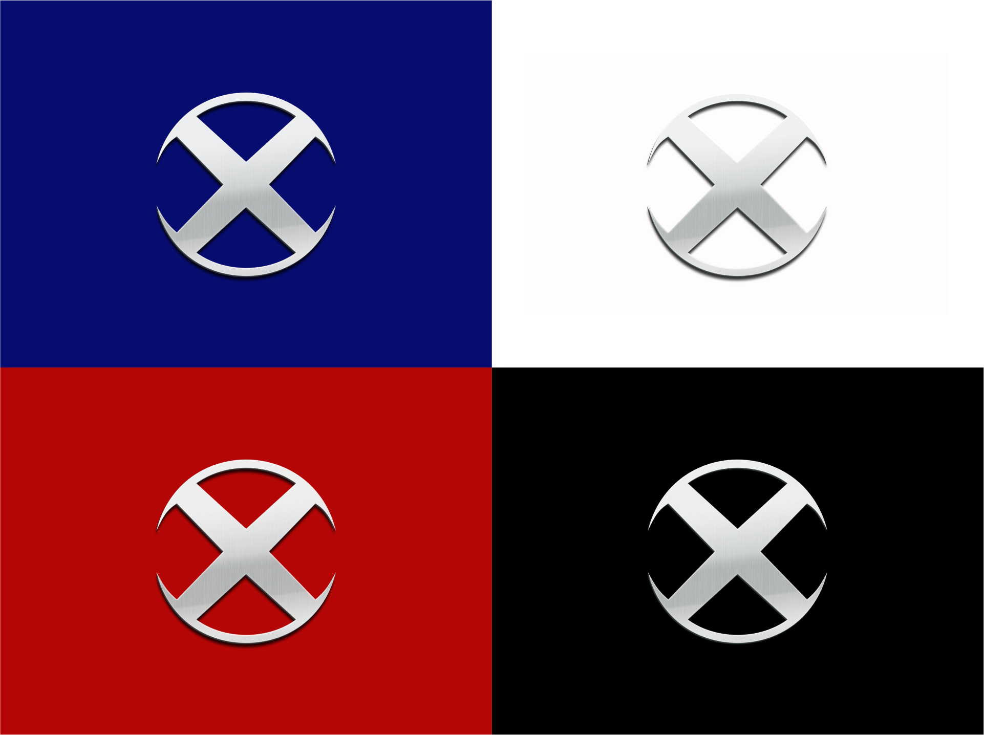 Can you create a super-hero logo using the letter X