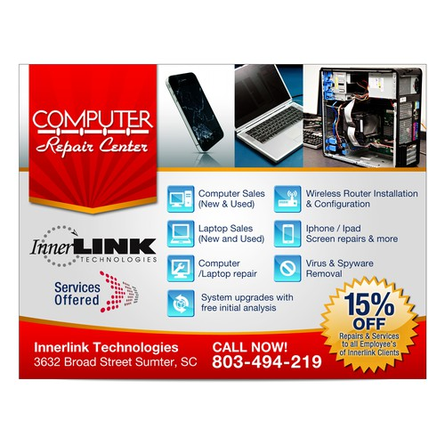 New postcard/flyer wanted for Innerlink Technologies