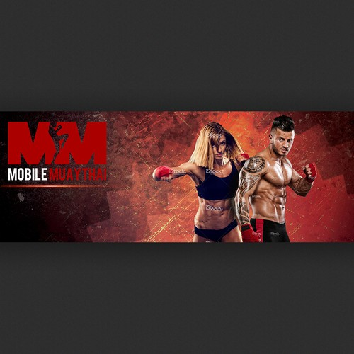 Facebook banner for mobile muaythai