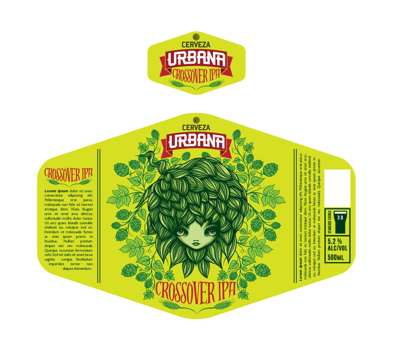 Cerveza Urbana brand label needed for Bottle.