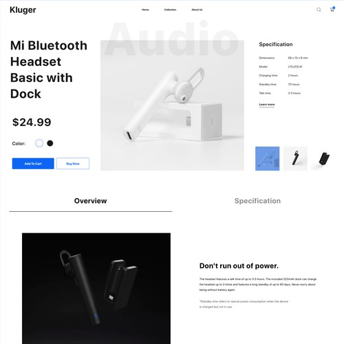 High-end product e-commerce website