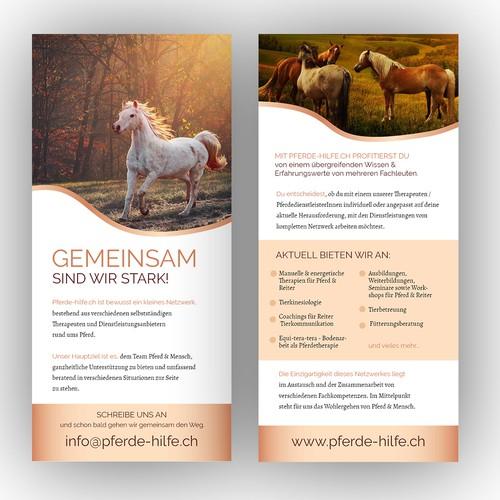 Flyer für Pferde Hilfe