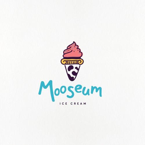 Yummy and fun logo for an ice cream company