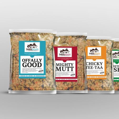 Dog Food, packaging design