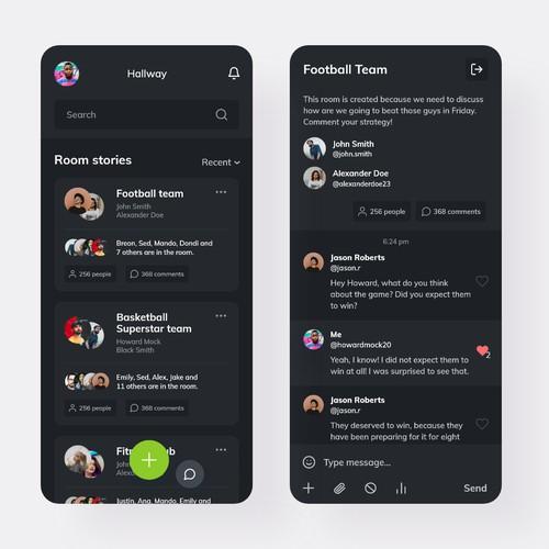 Design for Tellum Chat App
