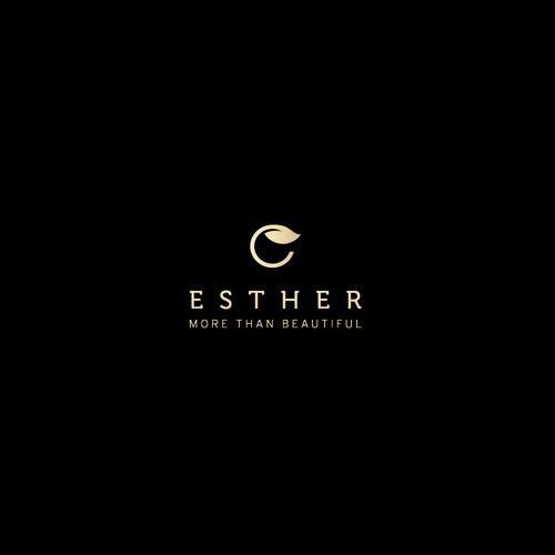 Minimal logo for Esther skin care company