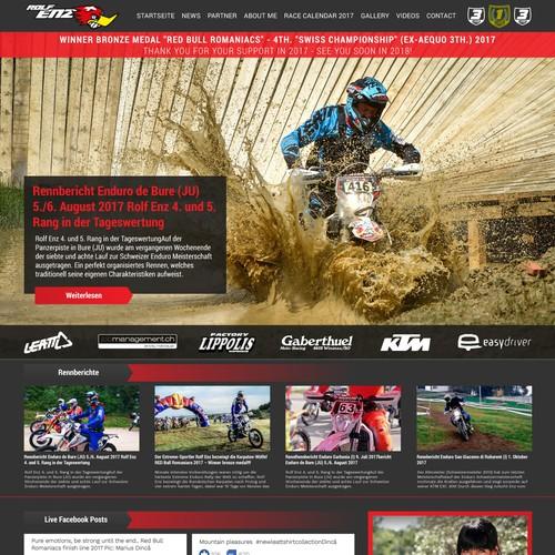 Sport Site Webdesign