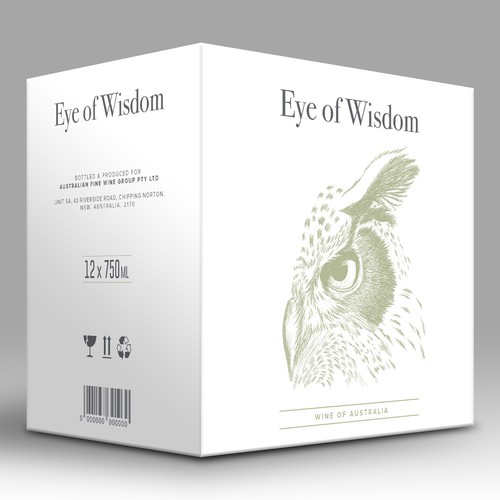 Design of labels and box for wine line