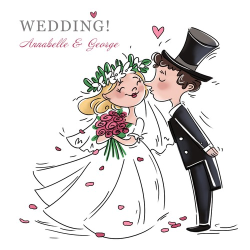 Wedding card illustration