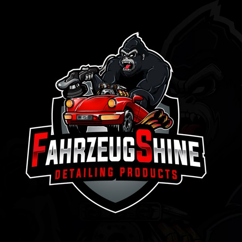 Masculine logo for Car Detailing (FahrzeugShine)