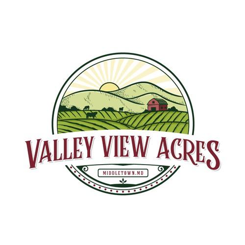 valley view acres logo designs