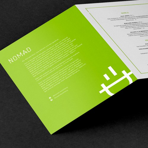 Fresh menu design