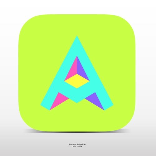 "Fun ""3d""ish Letter A Icon For A Social Video App"